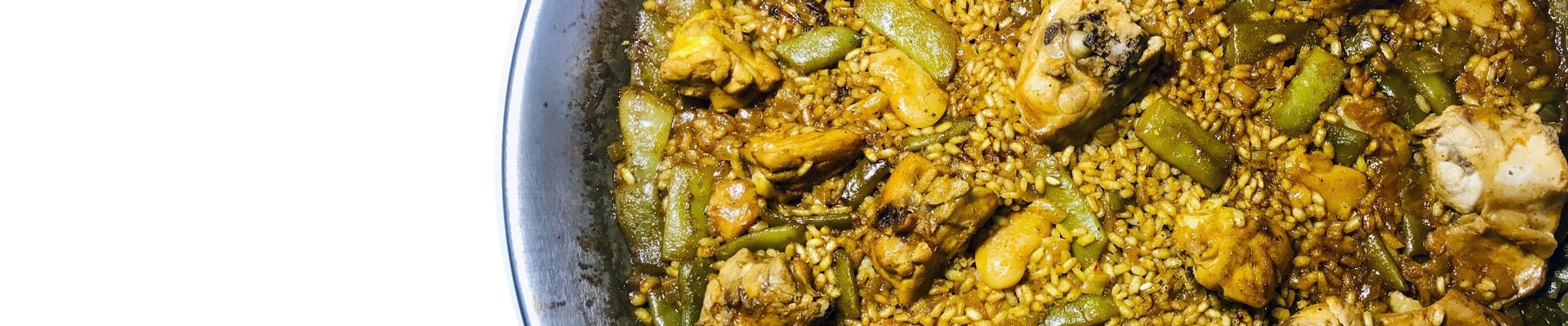 Изображение традиционная кухня Испании и Майорки , паэлья