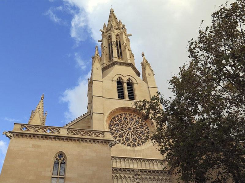 Фото Фасад церкви Святой Эулалии, лучшие архитектурные здания Майорки