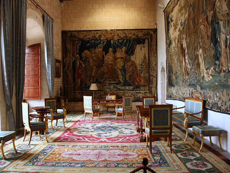 Фото Гобелены во дворце Альмудайна Майорка