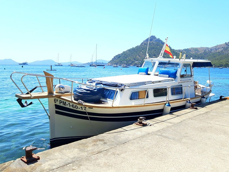 Boat rental with a capitan in Alcudia