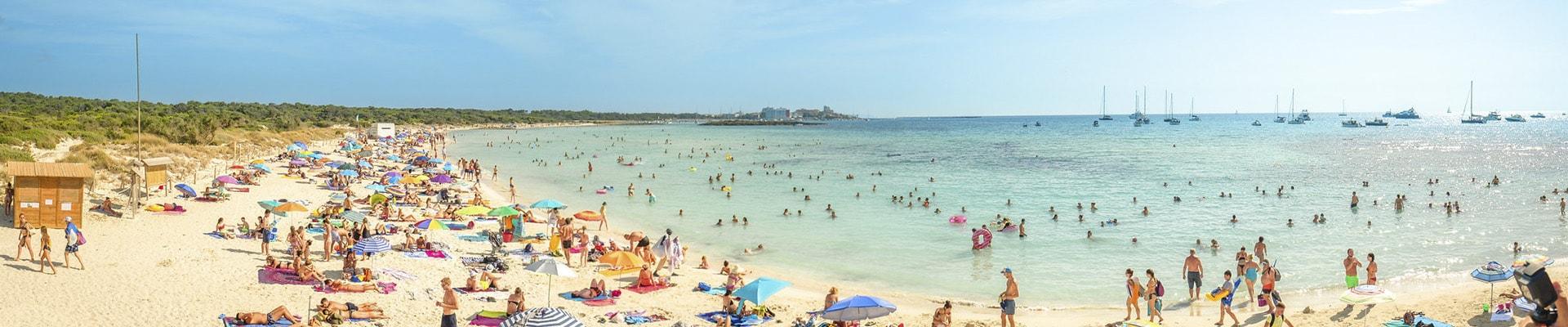 Фото Лучший пляж Майорки Эс Тренк С белым песочком