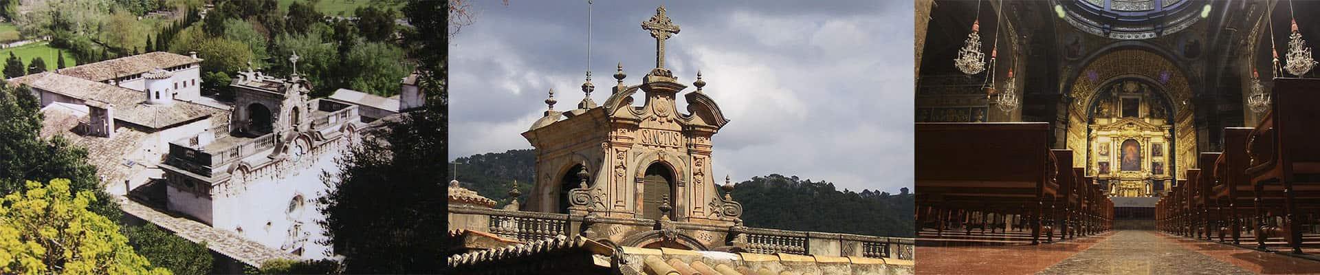 Фото монастырь Льюк на Майорке в горах